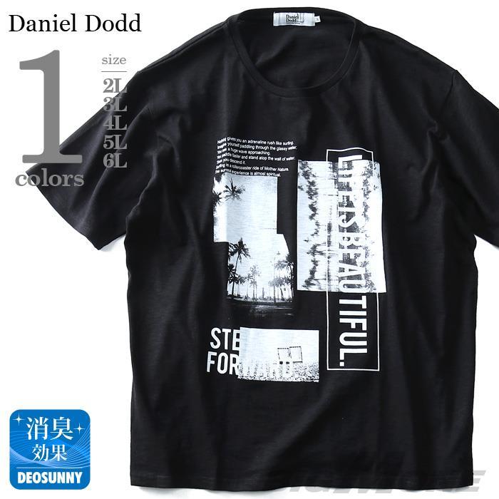 タダ割 大きいサイズ メンズ DANIEL DODD 半袖 Tシャツ スラブ フォトプリント 半袖Tシャツ LIFE IS BEAUTIFUL azt-180292
