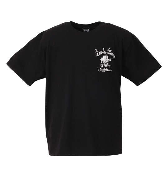 大きいサイズ メンズ SHELTY チェーン 刺繍 + プリント 半袖 Tシャツ 半袖Tシャツ ブラック 1158-8266-1 3L 4L 5L 6L 8L