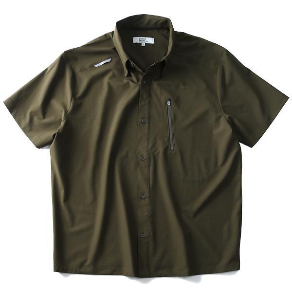 大きいサイズ メンズ DANIEL DODD シャツ 吸水速乾 ストレッチ 半袖 ワークシャツ azsh-180235