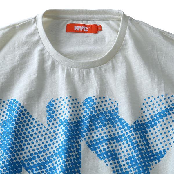 タダ割 大きいサイズ メンズ NYC プリント半袖 Tシャツ 半袖Tシャツ azt-1802107