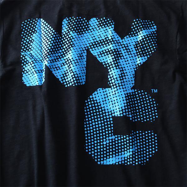 タダ割 大きいサイズ メンズ NYC プリント半袖 Tシャツ 半袖Tシャツ azt-1802108