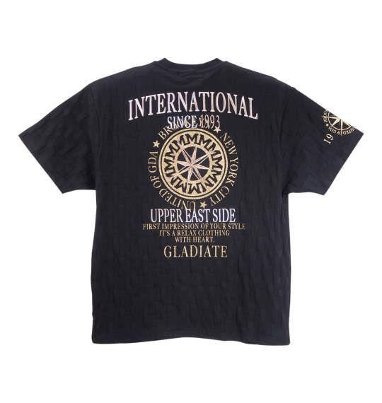 大きいサイズ メンズ GLADIATE ジャガード 半袖 Tシャツ 半袖Tシャツ ブラック 1158-8508-1 3L 4L 5L 6L