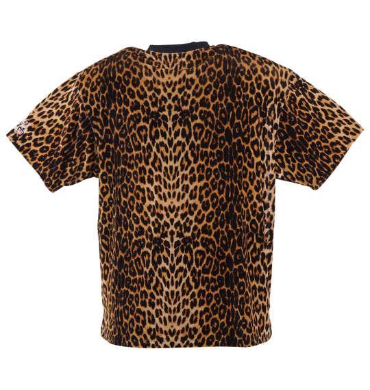 大きいサイズ メンズ GALFY レオパード柄 ベロア 半袖 Tシャツ 半袖Tシャツ イエローレオパード 1158-8525-1 3L 4L