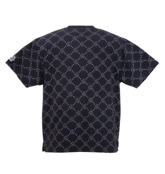 大きいサイズ メンズ GALFY 総柄 半袖 Tシャツ 半袖Tシャツ ブラック 1158-8526-1 3L 4L 5L 6L