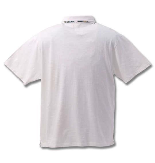 大きいサイズ メンズ Timely Warning スラブ 天竺 ワンポイント 刺繍 半袖 ポロシャツ オフホワイト 1158-8554-1 3L 4L 5L 6L