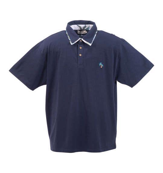 大きいサイズ メンズ Timely Warning スラブ 天竺 ワンポイント 刺繍 半袖 ポロシャツ ネイビー 1158-8554-3 3L 4L 5L 6L