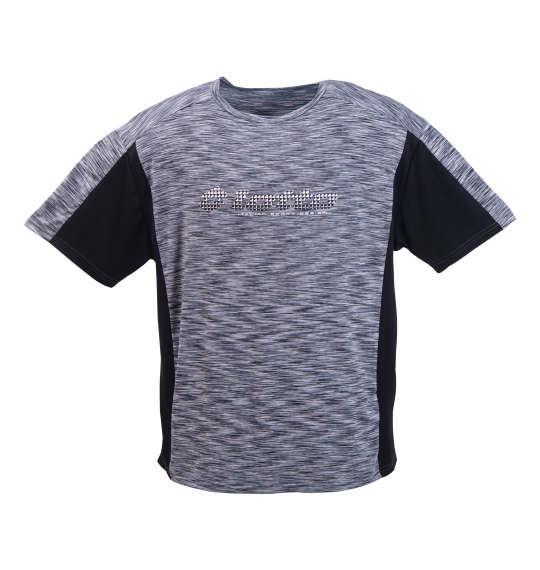 大きいサイズ メンズ lotto DRYメッシュ × エステル杢半袖Tシャツ グレー 1178-8555-2 3L 4L 5L 6L 8L