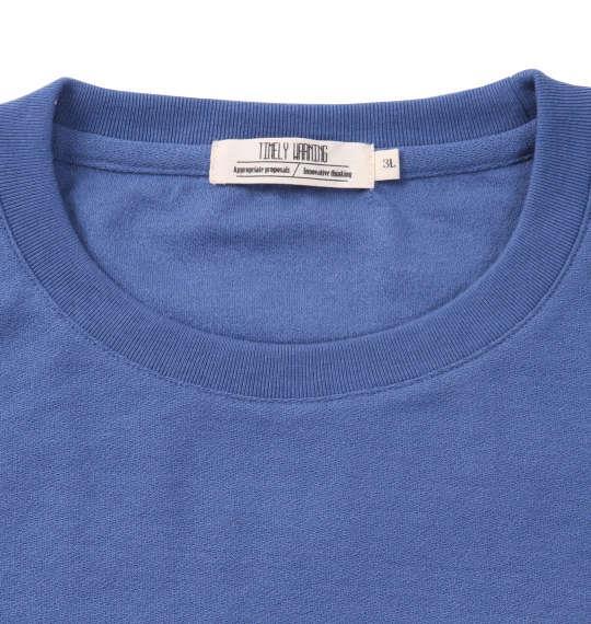 大きいサイズ メンズ Timely Warning 梨地 3段 切替 半袖 Tシャツ 半袖Tシャツ サックス 1158-8556-2 3L 4L 5L 6L