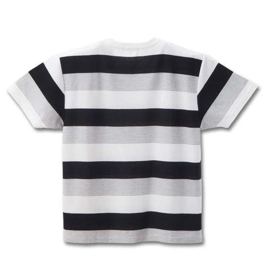 大きいサイズ メンズ Timely Warning 梨地 ボーダー ポケット付 半袖 Tシャツ 半袖Tシャツ ブラック × グレー 1158-8557-2 3L 4L 5L 6L