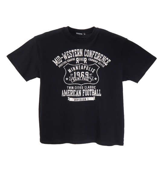 大きいサイズ メンズ PREPS 半袖 Tシャツ 半袖Tシャツ ブラック 1158-8591-2 3L 4L 5L 6L 8L