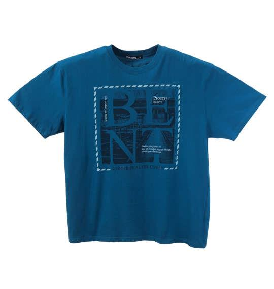 大きいサイズ メンズ PREPS 半袖 Tシャツ 半袖Tシャツ ターコイズ 1158-8592-1 3L 4L 5L 6L 8L