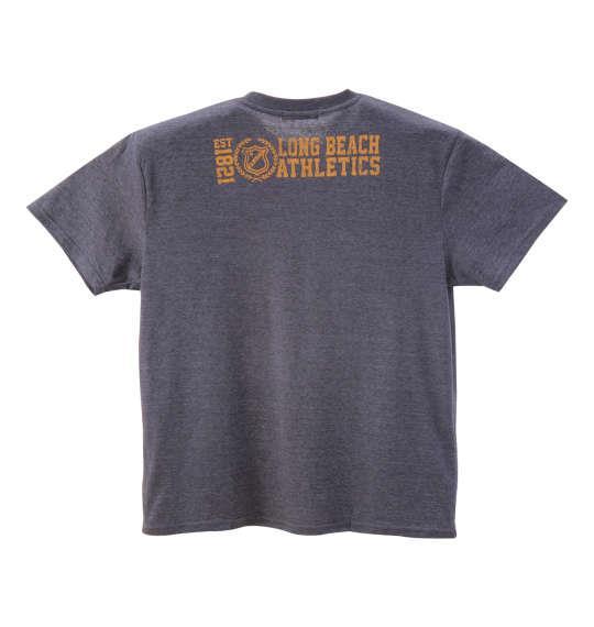 大きいサイズ メンズ PREPS 半袖 Tシャツ 半袖Tシャツ ネイビー杢 1158-8593-1 3L 4L 5L 6L 8L