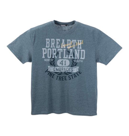 大きいサイズ メンズ PREPS 半袖 Tシャツ 半袖Tシャツ グリーン杢 1158-8594-1 3L 4L 5L 6L 8L