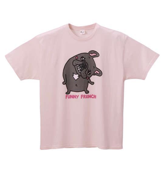 大きいサイズ メンズ Pugoodluck 半袖 Tシャツ 半袖Tシャツ ライトピンク 1168-8205-3 3L 4L 5L 6L 8L
