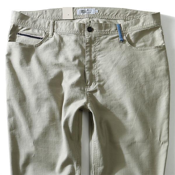大きいサイズ メンズ DANIEL DODD 麻混 ストレッチ 5ポケット パンツ azd-1107