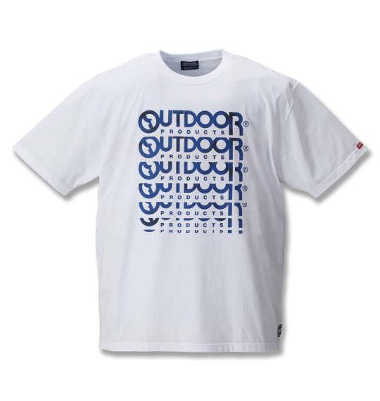 大きいサイズ メンズ OUTDOOR PRODUCTS 天竺 半袖 Tシャツ 半袖Tシャツ ホワイト 1158-8201-1 3L 4L 5L 6L 8L