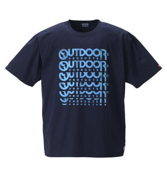 大きいサイズ メンズ OUTDOOR PRODUCTS 天竺 半袖 Tシャツ 半袖Tシャツ ネイビー 1158-8201-2 3L 4L 5L 6L 8L