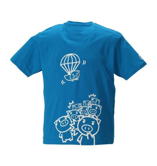 大きいサイズ メンズ 豊天 パラシュートン美豚 半袖 Tシャツ 半袖Tシャツ ターコイズ 1158-8546-1 3L 4L 5L 6L