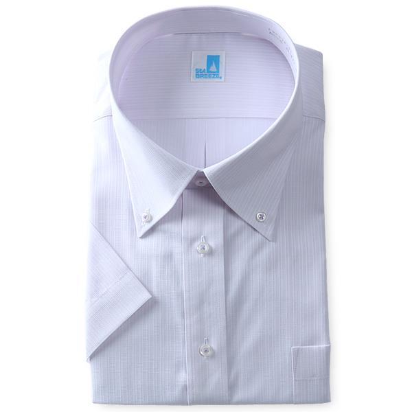 2点目半額 大きいサイズ メンズ SEA BREEZE シーブリーズ ビジネス Yシャツ 半袖 ワイシャツ ボタンダウン ビジネスシャツ 形態安定 ehcb26-52