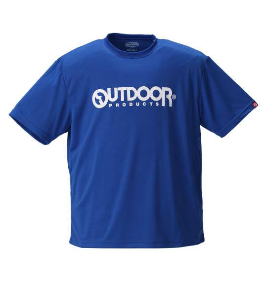 大きいサイズ メンズ OUTDOOR PRODUCTS DRY メッシュ 半袖 Tシャツ 半袖Tシャツ ブルー 1158-8200-4 3L 4L 5L 6L 8L