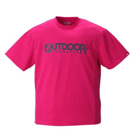 大きいサイズ メンズ OUTDOOR PRODUCTS DRY メッシュ 半袖 Tシャツ 半袖Tシャツ ピンク 1158-8200-5 3L 4L 5L 6L 8L