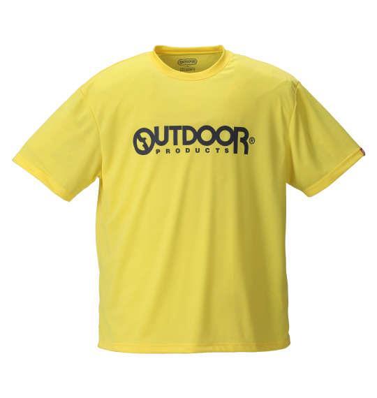 大きいサイズ メンズ OUTDOOR PRODUCTS DRY メッシュ 半袖 Tシャツ 半袖Tシャツ イエロー 1158-8200-6 3L 4L 5L 6L 8L