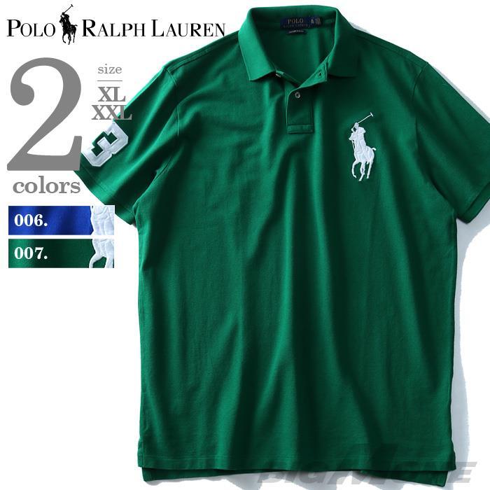 大きいサイズ メンズ POLO RALPH LAUREN ポロ ラルフローレン ロゴ刺繍 半袖 鹿の子 ポロシャツ XL XXL USA 直輸入 710692227