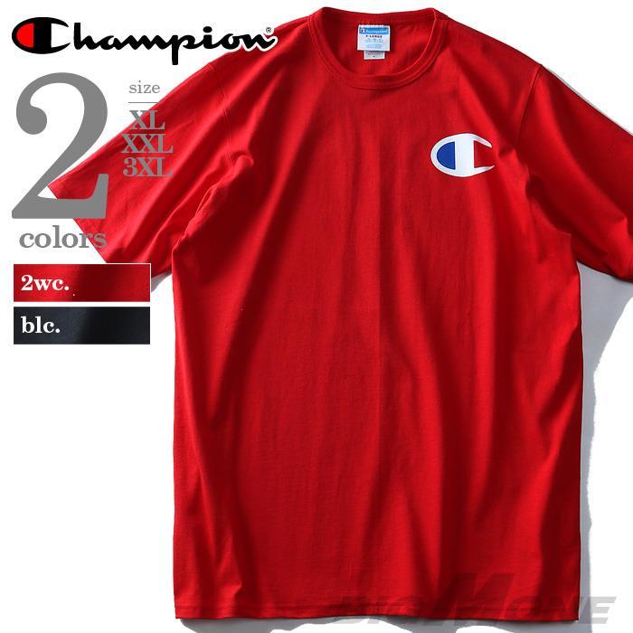 大きいサイズ メンズ Champion シュプリーム ビッグロゴ プリント Tシャツ USA直輸入 gt19-y06137