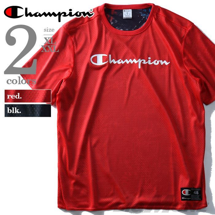 大きいサイズ メンズ Champion チャンピオン 半袖 Tシャツ メッシュ 半袖Tシャツ USA 直輸入 t3979