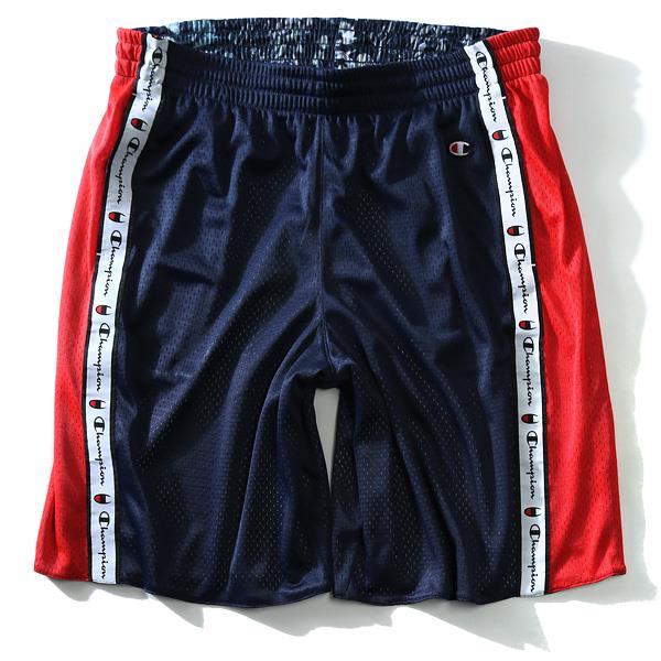 大きいサイズ メンズ Champion チャンピオン メッシュ ジャージ ハーフパンツ ズボン ボトムス 短パン USA直輸入 89796