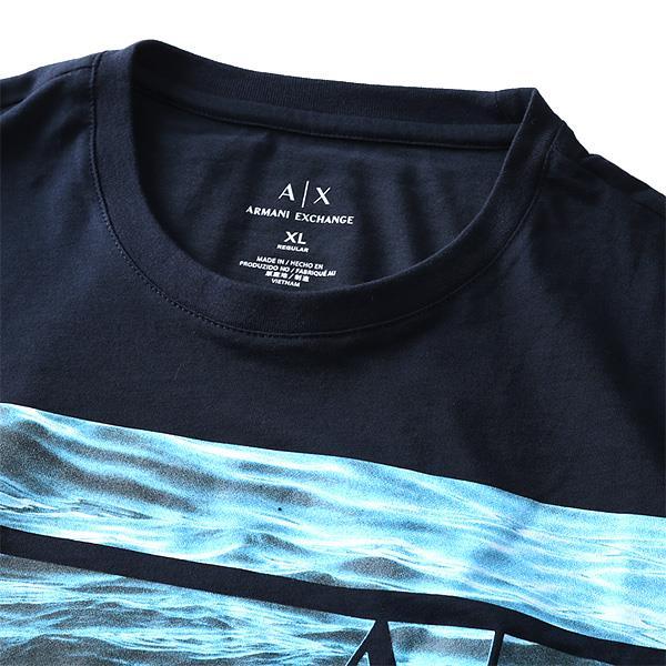 大きいサイズ メンズ ARMANI EXCHANGE (アルマーニエクスチェンジ) 半袖デザインTシャツ USA直輸入 3yzt97zjh4z
