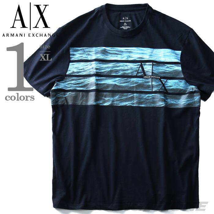 ブランドセール 【大きいサイズ】【メンズ】ARMANI EXCHANGE(アルマーニエクスチェンジ) 半袖デザインTシャツ【USA直輸入】3yzt97zjh4z