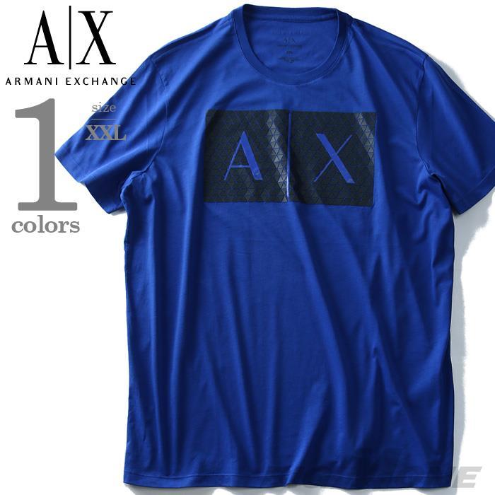 ブランドセール 【大きいサイズ】【メンズ】ARMANI EXCHANGE(アルマーニエクスチェンジ) 半袖デザインTシャツ【USA直輸入】8nztckzja3z