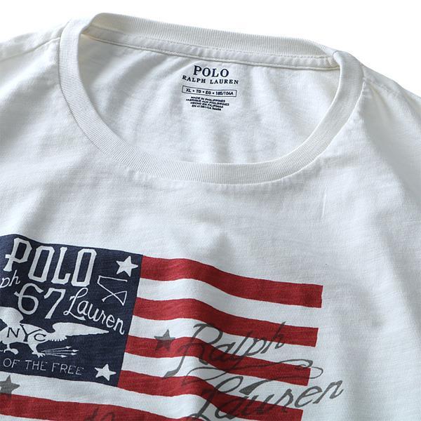 大きいサイズ メンズ POLO RALPH LAUREN ポロ ラルフローレン 半袖 Tシャツ プリント 半袖Tシャツ オフホワイト XL XXL USA直輸入 710685946001