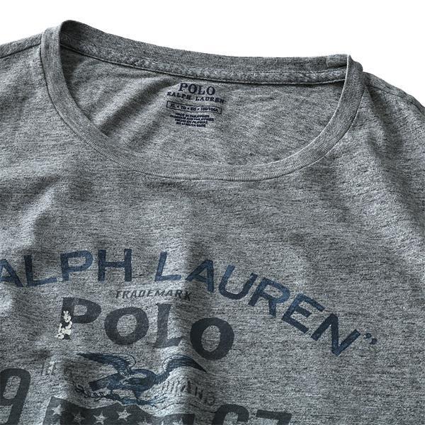 大きいサイズ メンズ POLO RALPH LAUREN ポロ ラルフローレン 半袖 Tシャツ プリント 半袖Tシャツ グレー XL XXL USA 直輸入 710685947001