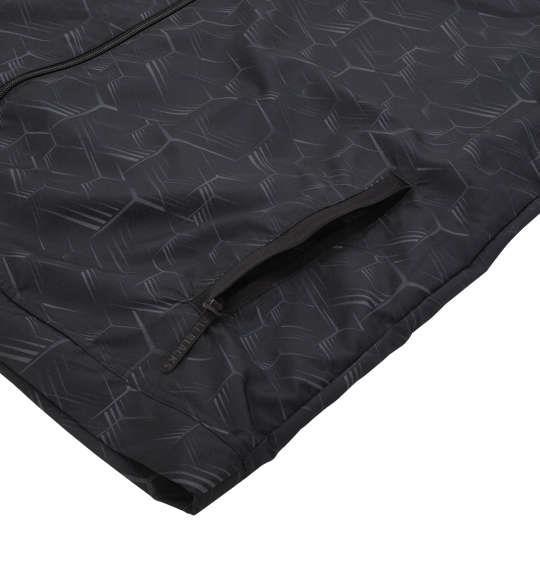 大きいサイズ メンズ adidas All Blacks プレゼンテーション ジャケット グレー × ブラック 1148-8315-1 6XO 8XO