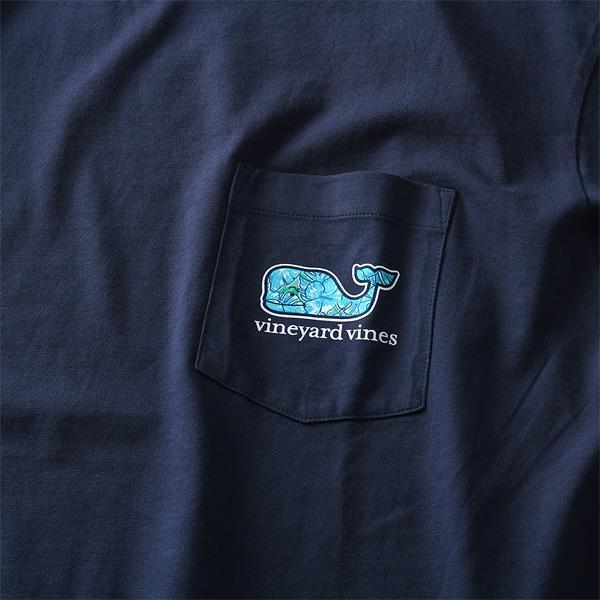 大きいサイズ メンズ Vineyard Vines (ヴィニヤードヴァインズ) ポケット付き半袖プリントTシャツ USA直輸入 1v000004
