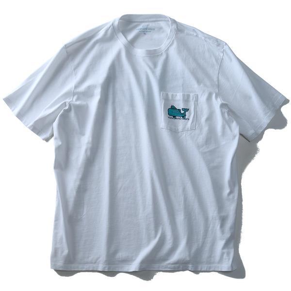 大きいサイズ メンズ Vineyard Vines (ヴィニヤードヴァインズ) ポケット付き半袖プリントTシャツ USA直輸入 1v000007
