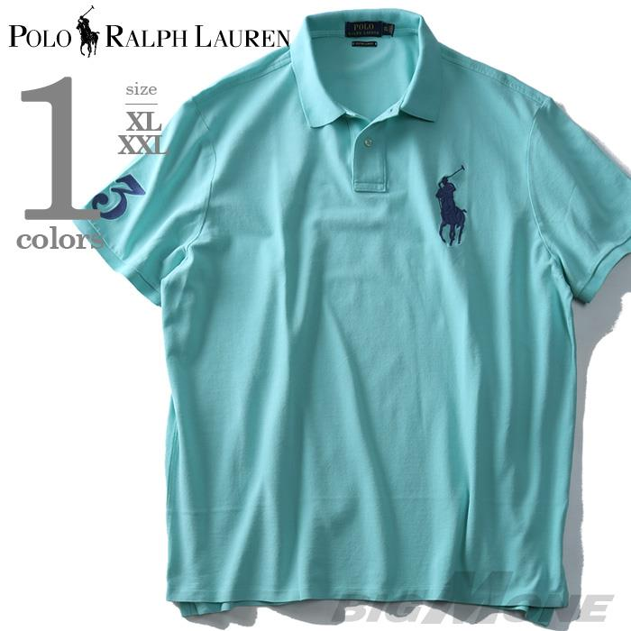 大きいサイズ メンズ POLO RALPH LAUREN ポロ ラルフローレン 半袖 ビッグポニー 鹿の子 ポロシャツ ミント XL XXL USA 直輸入 710697457004