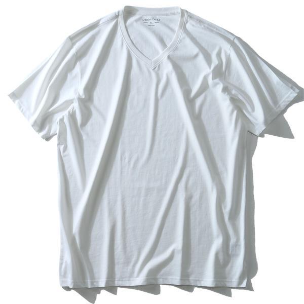 大きいサイズ メンズ DANIEL DODD 半袖 インナー オーガニックコットン Vネック 半袖 肌着 下着 消臭抗菌 azu-1801 緊急セール