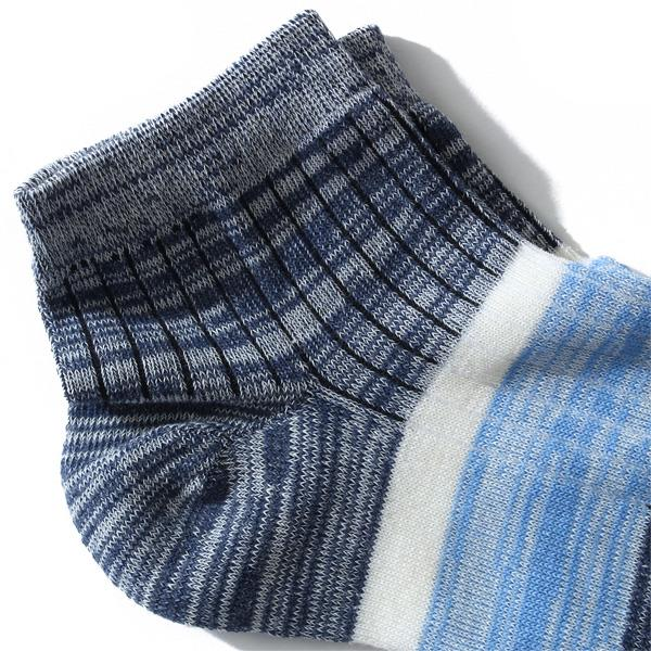 大きいサイズ メンズ DANIEL DODD ソックス 抗菌防臭 ライン入り チェック柄 ショート クルーソックス 靴下 azsk-17045
