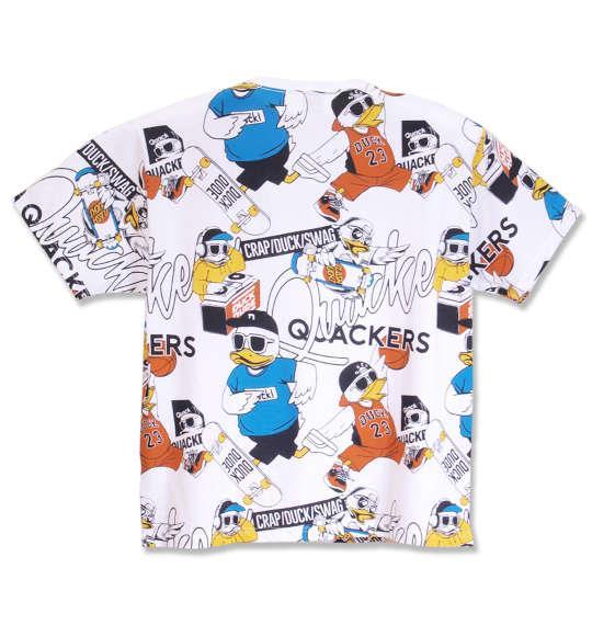 大きいサイズ メンズ b-one-soul DUCK DUDE 総柄 プリント 半袖 Tシャツ 半袖Tシャツ ホワイト系 1158-8661-1 3L 4L 5L 6L