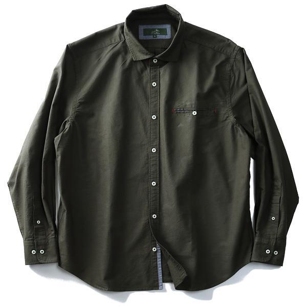 シャツ割 【大きいサイズ】【メンズ】Bowerbirds Works 長袖オックスフォード無地ワイドカラーシャツ azsh-180410