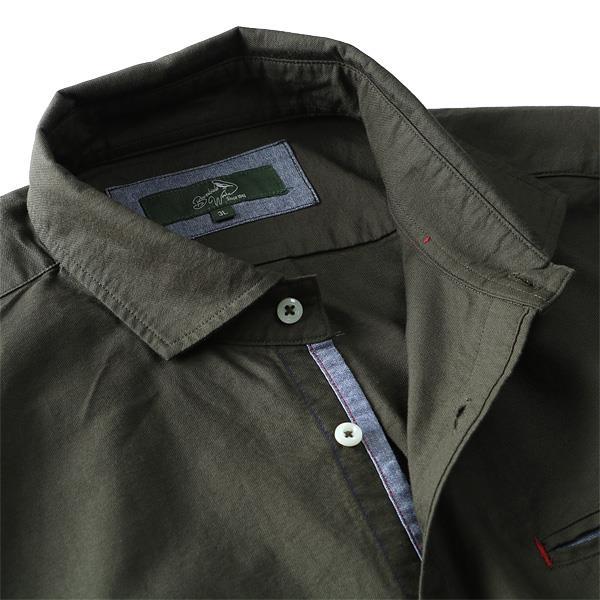 大きいサイズ メンズ Bowerbirds Works シャツ 長袖 オックスフォード 無地 ワイドカラーシャツ 秋冬 新作 azsh-180410