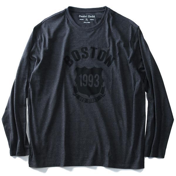大きいサイズ メンズ DANIEL DODD 長袖 Tシャツ ロンT オーガニックコットン プリント ロングTシャツ (BOSTON) 秋冬 新作 azt-180406