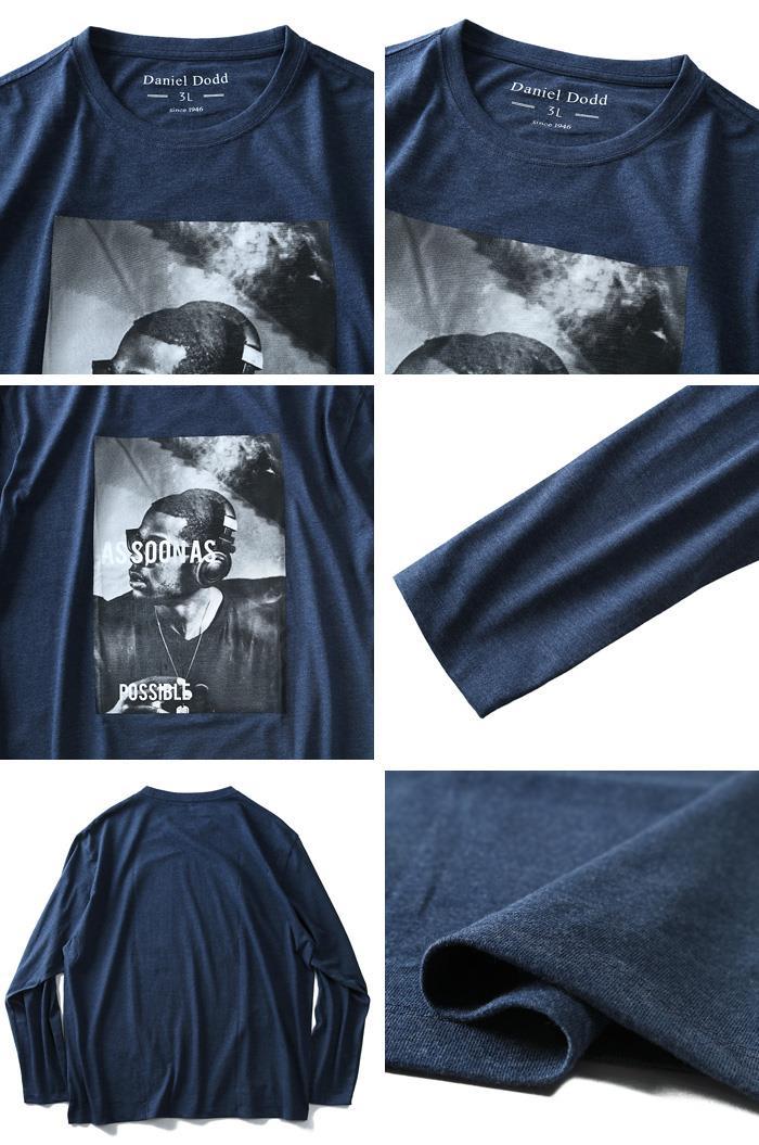 大きいサイズ メンズ DANIEL DODD 長袖 Tシャツ ロンT オーガニックコットン プリント ロングTシャツ AS SOON AS 秋冬 新作 azt-180409
