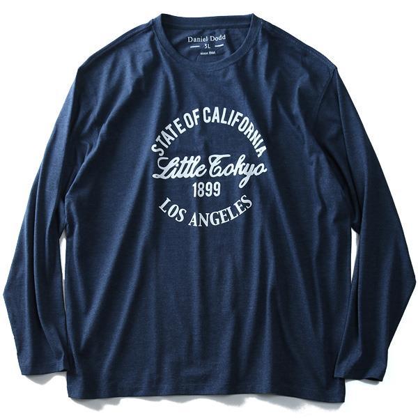 大きいサイズ メンズ DANIEL DODD 長袖 Tシャツ ロンT オーガニックコットン プリント ロングTシャツ Little Tokyo 秋冬 新作 azt-180411