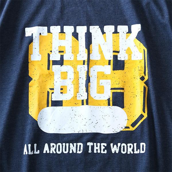 大きいサイズ メンズ DANIEL DODD 長袖 Tシャツ ロンT オーガニックコットン プリント ロングTシャツ THINK BIG 秋冬 新作 azt-180422