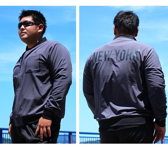 大きいサイズ メンズ LINKATION ストレッチ カットジャケット アスレジャー スポーツウェア la-cj180404
