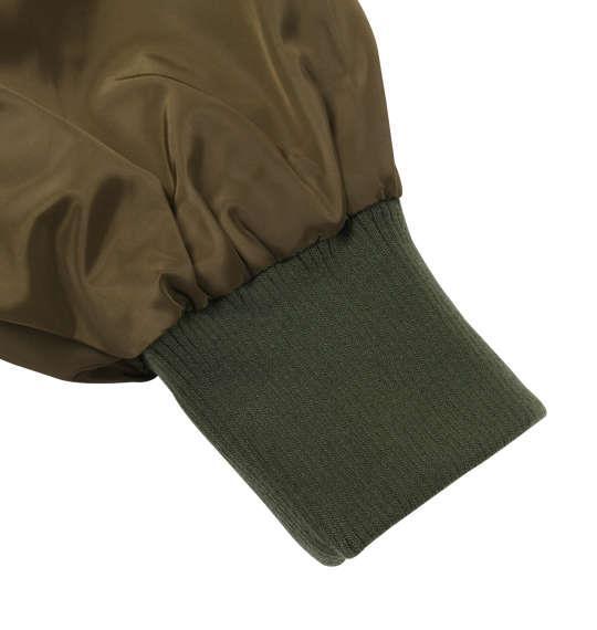大きいサイズ メンズ SHOCK NINE ワッペン付 MA-1 ジャケット アウター カーキ 1153-8311-1 3L 4L 5L 6L